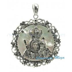 Medalla de la Virgen de la Cabeza con nácar